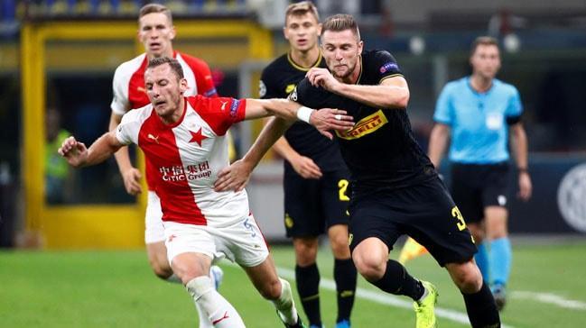 Inter Slavia Prag'dan 1 puanı zor kurtardı