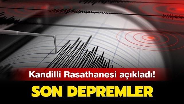 Kandilli Rasathanesi ve AFAD'dan deprem açıklaması