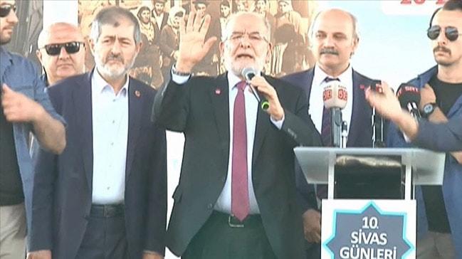 Saadet Partisi Genel Başkanı Karamollaoğlu'na tepki... Alandan ayrılmak zorunda kaldı!