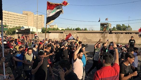 Irak'taki gösterilere 'Erbain törenleri' nedeniyle ara verildi