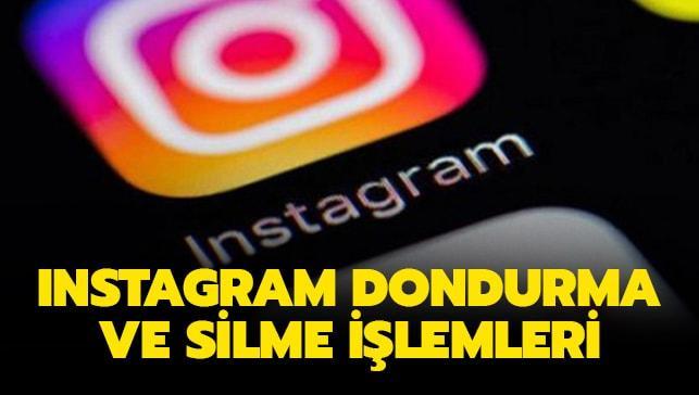 Instagram dondurma linki ve hesap silme işlemleri sizlerle! Instagram hesap dondurma nasıl yapılır?