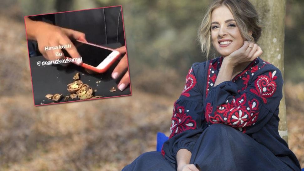 Doğa Rutkay 8 bin TL'lik cep telefonuyla ceviz kırdı, sosyal medyayı salladı