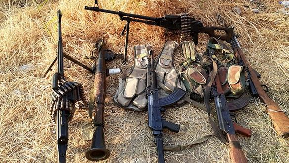 Resulayn'da SMO ile çatışan teröristler silah ve mühimmatlarını bırakarak kaçtı