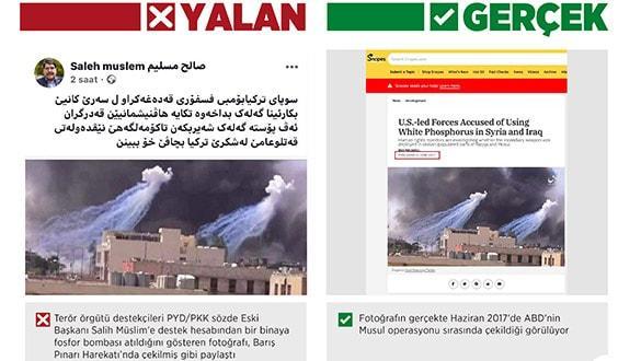 PKK'lı teröristler, Barış Pınarı Harekatı'nda 'fosfor bombası kullanıldı' yalanını dolaşıma soktu