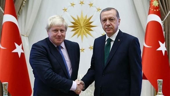 Başkan Erdoğan, İngiltere Başbakanı Boris Johnson ile telefonla görüştü