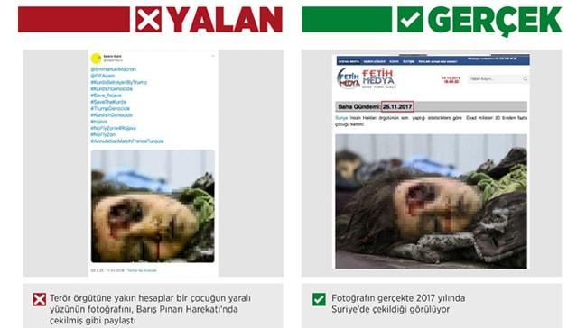 PKK-PYD'den manipülasyon girişimi!, Harekat sırasında çekilmiş gibi gösterdiler