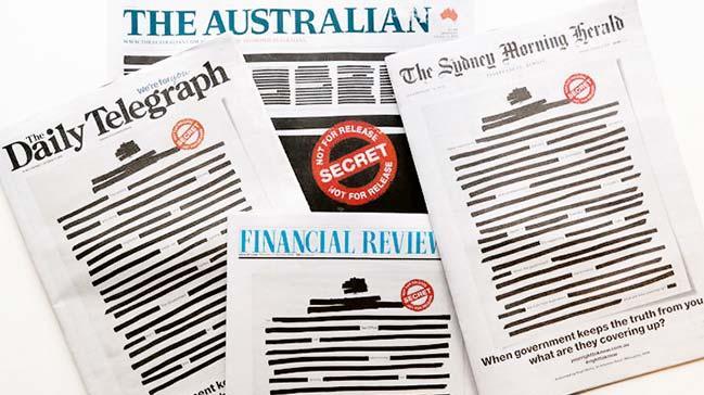 Avustralya basınında protesto sansürü