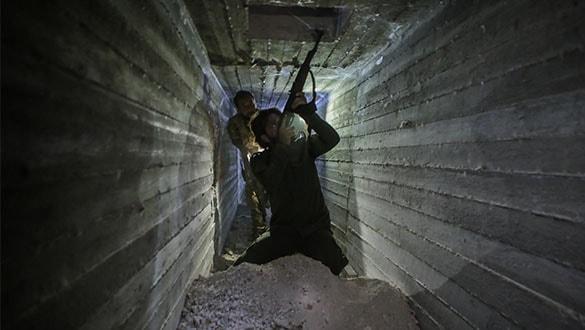 Tel Abyad'da YPG-PKK'lıların kazdığı tüneller ortaya çıkarıldı