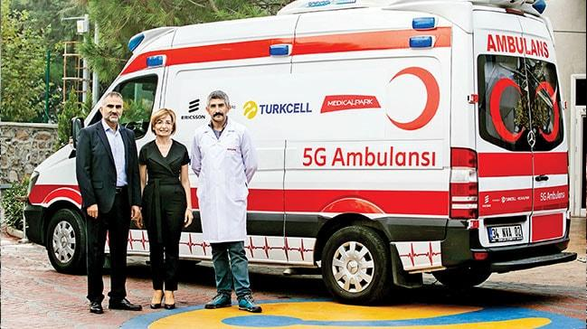 Turkcell veErIcsson'danilk uygulama: 5G ambulansıylahastaya uzaktan teşhis