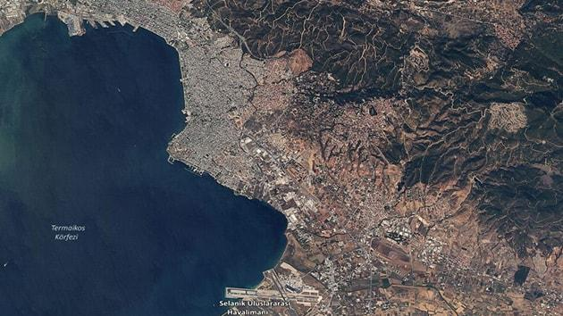 Yerli gözlem uydumuz RASAT, Yunanistan'ı uzaydan görüntüledi