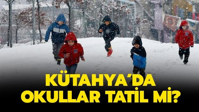 "Cuma günü Kütahya'da okullar tatil mi"" 6 Aralık Kütahya'da kar tatili var mı"""