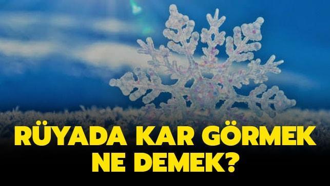 """Rüyada kar yağdığını (yağması) görmek ne demek"""" Rüyada kar görmek ne anlama gelir"""""""