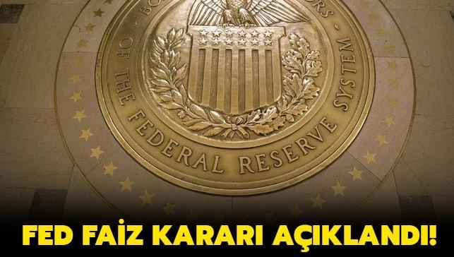 """ABD Merkez Bankası FED faiz kararı nedir""""  Aralık ayı FED faiz kararı açıklandı!"""