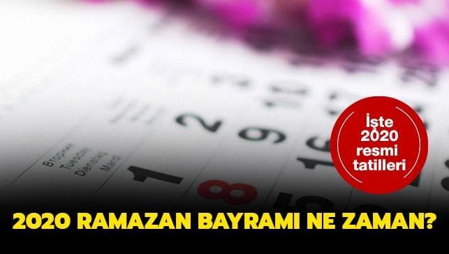 2020 ramazan bayramı tatili