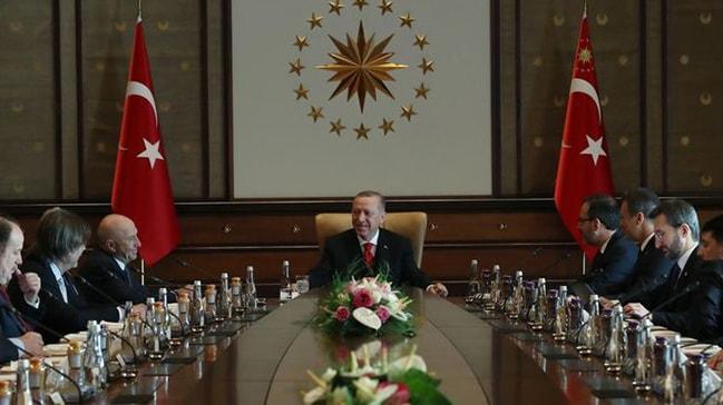 Başkan Erdoğan kulüp başkanlarını kabul etti