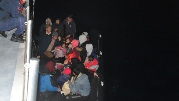 Çanakkale'de 47 düzensiz göçmen yakalandı
