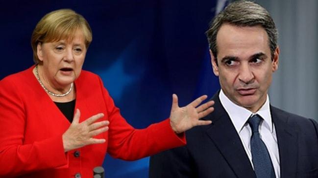 Merkel açıkladı! Miçotakis'in büyük çaresizliği: Yunanistan Libya'da saf dışı kaldı