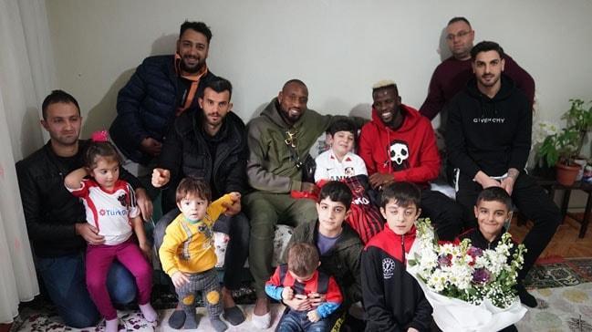 Küçük Enes'in hayalini Gaziantep FK'li futbolcular gerçekleştirdi