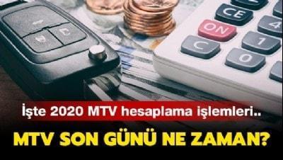 MTV ödemesi nasıl ve nereden yapılır? MTV 2020 sorgulama sayfası ve hesaplama işlemleri..