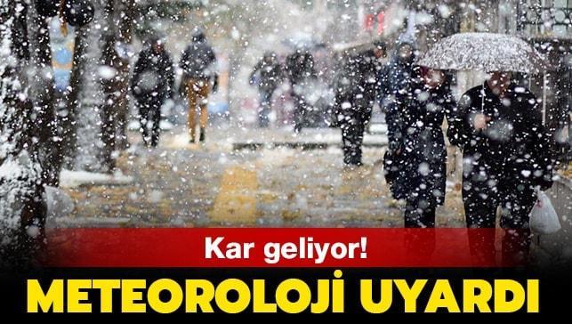 Meteoroloji'den kritik uyarı! İstanbul'a kar ne zaman yağacak?