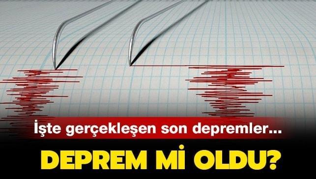 Ankara'da bir deprem daha meydana geldi!