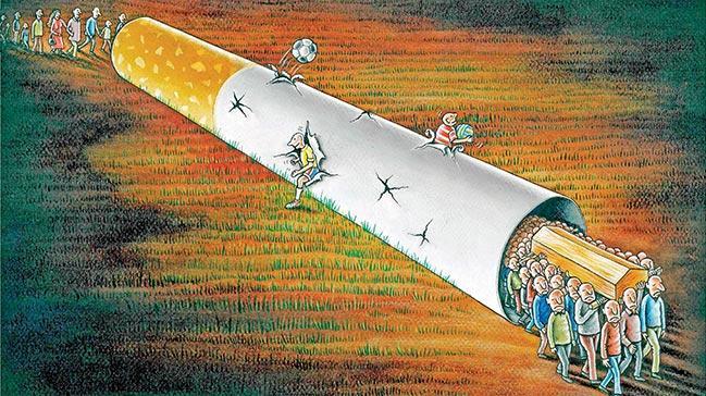 Karikatürler sağlıklı yaşam için çizilecek