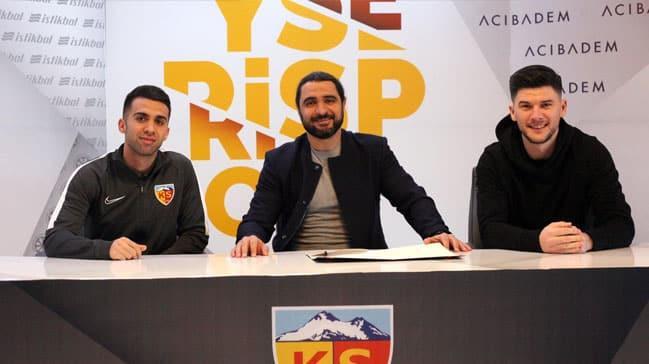Kayserispor'da Emre Taşdemir ve Sapunaru için imza töreni düzenlendi
