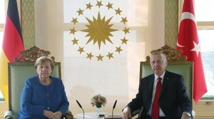 Başkan Erdoğan-Merkel görüşmesi sona erdi