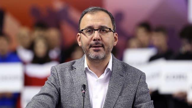 Gençlik ve Spor Bakanı Kasapoğlu'nun deprem talimatı