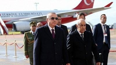 Başkan Recep Tayyip Erdoğan Cezayir'e geldi