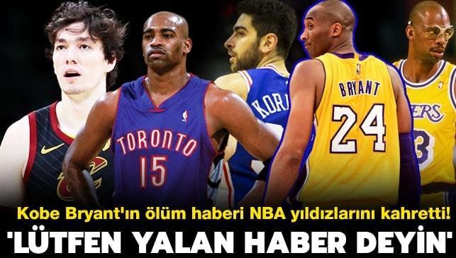 Kobe Bryant'ın ölüm haberi NBA yıldızlarını kahretti! 'Lütfen yalan haber deyin'