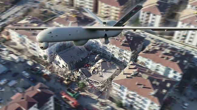 Türkiye'de ilk kez uygulanıyor! Milli İHA'lar deprem bölgesini böyle görüntüledi