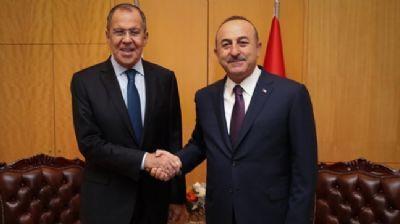 Dışişleri Bakanı Çavuşoğlu, Rus mevkidaşı ile Suriye'yi görüştü