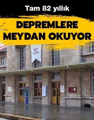 Depremlerin yıkamadığı bina: Erzincan Tren Garı
