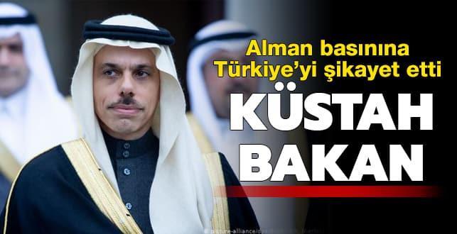 Küstah Bakan! Türkiye'yi şikayet etti