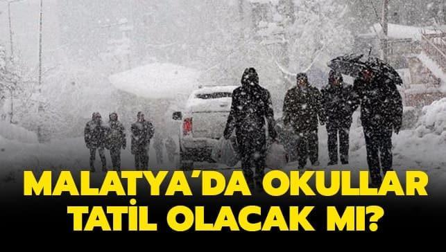 "Malatya Valiliği son dakika kar tatili var mı"" 17 Şubat Pazartesi Malatya'da okullar tatil mi"""