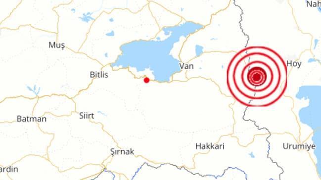 Türkiye-İran sınırında korkutan deprem... Van'da da hissedildi