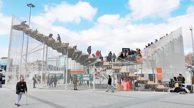 Taksim'deki platform ve gösterim merkezi için kaldırma kararı