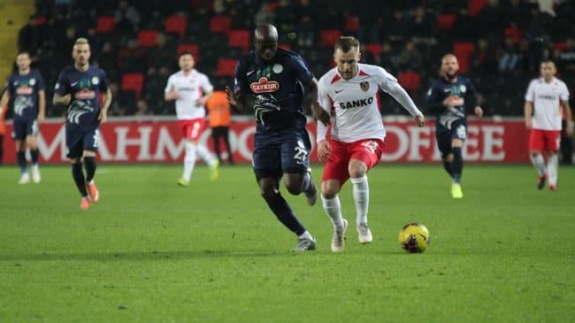 Gaziantep FK, 2 penaltı kaçırdığı maçta Çaykur Rizespor'u mağlup etmeyi başardı