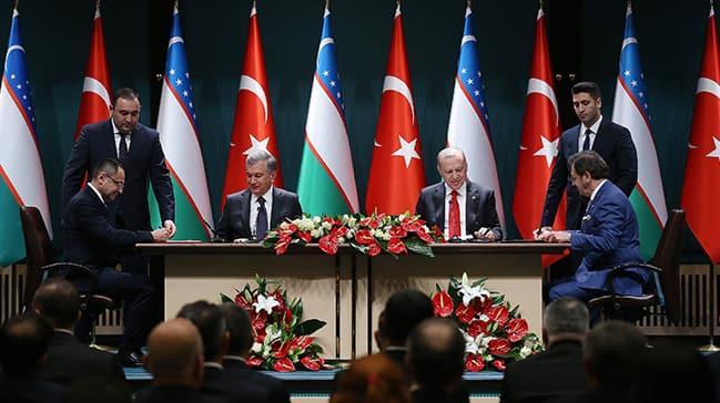 Başkan Erdoğan, Mirziyoyev'le ortak basın toplantısında konuştu: Tarihi bir adım attık