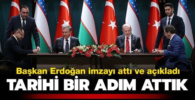 Başkan Erdoğan imzayı attı ve açıkladı: Tarihi bir adım attık