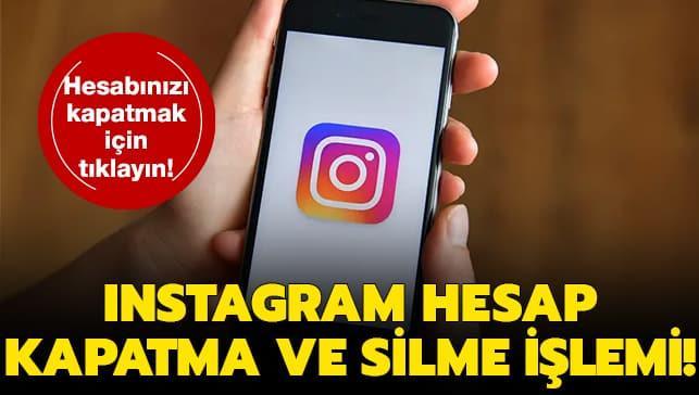 """Instagram hesabı nasıl silinir"""" Instagram hesap kapatma, silme ve dondurma işlemi haberimizde!"""