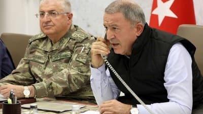 Bakan Akar, Rus mevkidaşıyla telefonda görüştü