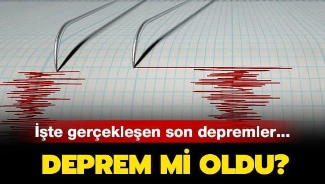 """İzmir'de deprem mi oldu"""" Kandilli Rasathanesi son dakika deprem haberleri"""
