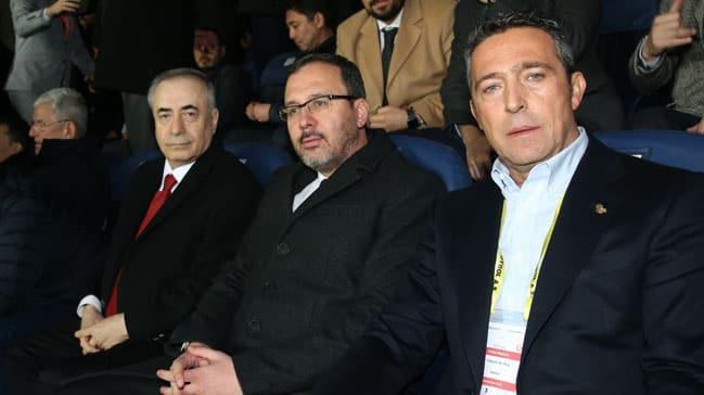 Bakan Kasapoğlu derbi için Kadıköy'de