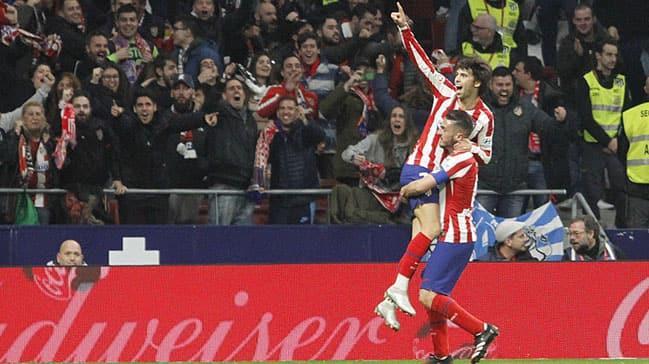 Atletico Madrid geri düştü ama 3 golle kazanmasını bildi