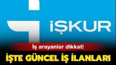İŞKUR iş ilanları: İŞKUR giriş ekranı ile memur ve personel alımı yapılıyor
