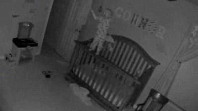 Bebek kamerasına takılan korkunç anlar