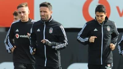 Beşiktaş pas, şut ve taktik çalıştı