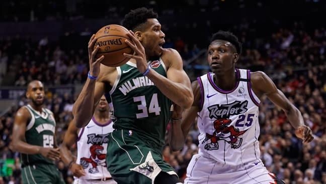 NBA'de Milwaukee Bucks, Toronto Raptors'ı 108-97 mağlup etti